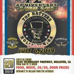 "Top Hatters 72nd anniversary ""Poker Run"" Hollister, CA - Sat July 6, 2019"