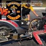SONS OF SILENCE VS BANDIDOS MC IN NITRO HARLEY PRO FUEL DRAG BIKE RACE! FULL MAN CUP EVENT! | CycleDrag