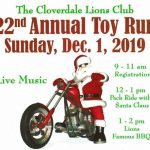 The Cloverdale Lions Club 22nd Annual Toy Run
