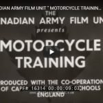"1942 CANADIAN ARMY FILM UNIT "" MOTORCYCLE TRAINING "" WWII INSTRUCTIONAL FILM NORTON 16H 16314 