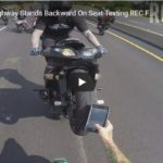 Biker On Highway Stands Backward On Seat Texting REC FB Video | ROC Streetfighterz Ride Of The Century