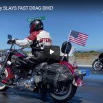 Samoa Dragstrip - Street Harley SLAYS FAST DRAG BIKE! | CycleDrag