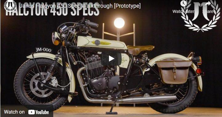 Janus Motorcycles - Halcyon 450 Specs