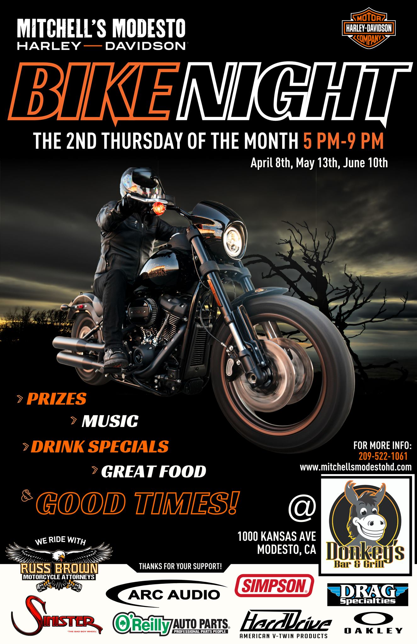 Mitchell's Modesto Harley-Davidson Bike Night