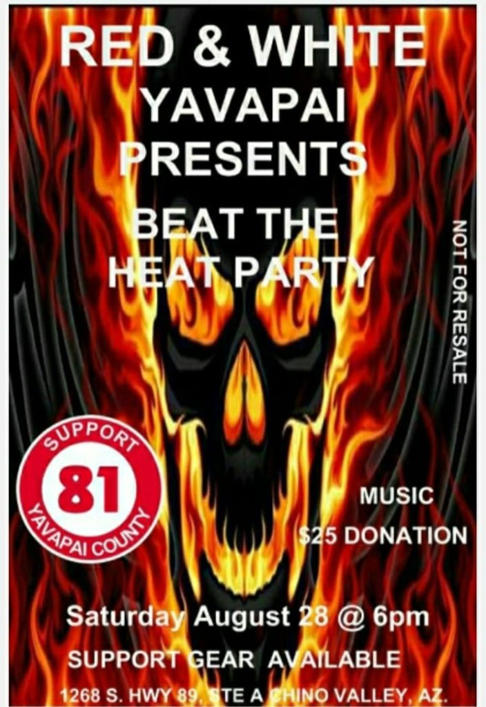 Red & White Yavapai County presents Beat the Heat Party Aug 2021
