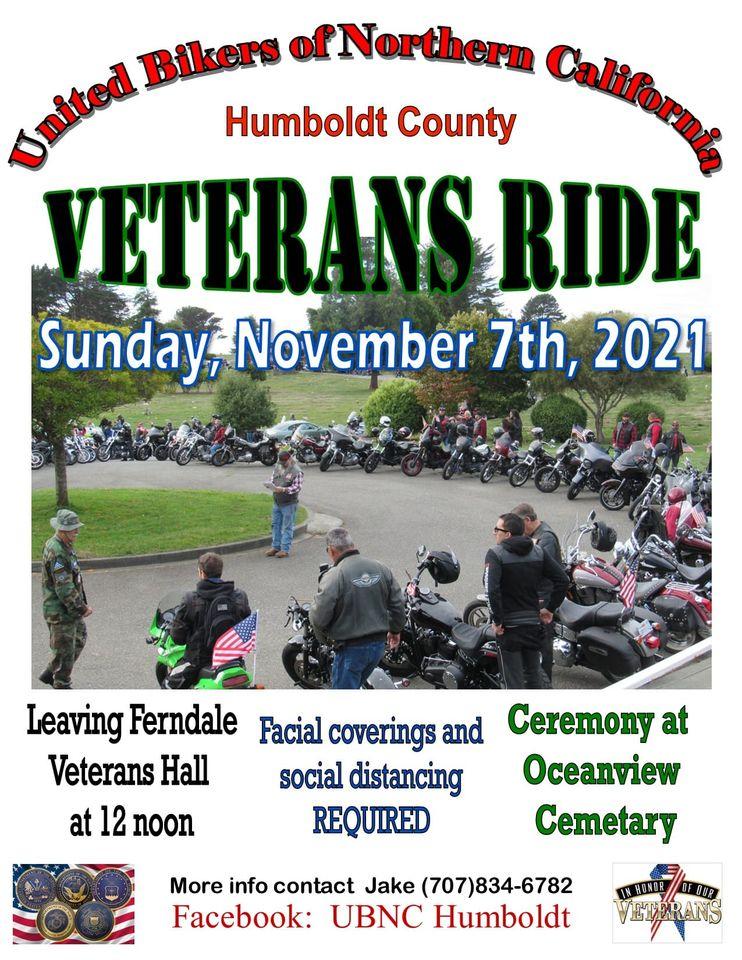 UBNC Humboldt Veteran's Memorial Ride 2021